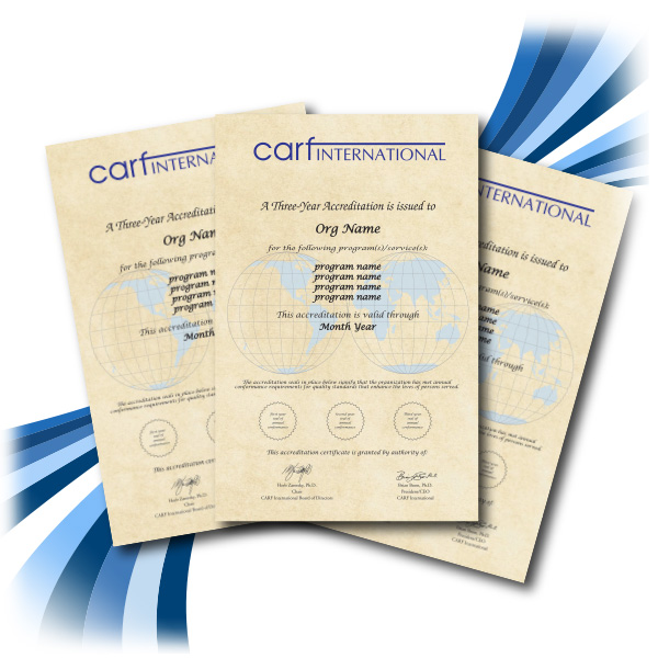 Additional Accreditation Certificate: CARF Canada Online Store